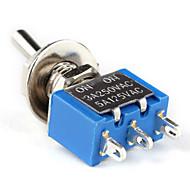 sähkö DIY tehonsäätö 3-pin kytkin-sininen hopea (10-osainen pakkaus)