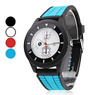 Hombre / Mujer / Unisex Reloj Deportivo Cuarzo Caucho Banda Negro / Azul / Rojo Marca-