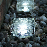 Solar Cubic Brick Ice Cube Path Light Crystal Garden Lamp