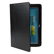Για Samsung Galaxy Θήκη με βάση στήριξης / Ανοιγόμενη tok Πλήρης κάλυψη tok Μονόχρωμη Συνθετικό δέρμα Samsung Note 10.1 / Tab 2 10.1