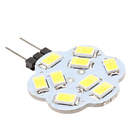 G4 4.5W 9x5630 SMD 400-430LM 6000-6500K Natural White Light Lotus Shaped LED Spot Bulb (12V)