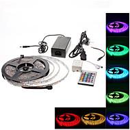 vesitiivis 5m 300x5050 smd RGB LED nauhat valo, jossa 24-painikkeella kaukosäätimestä ja AC adapteri (100-240V)