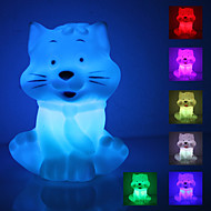 Laughing Cat formad färgglada LED Night Light (3xAG13)