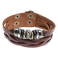z&x® multi kryss perler klinke lær armbånd