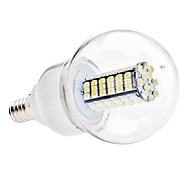 E14 6W 120 SMD 3528 500 LM Natural White G60 LED Globe Bulbs AC 110-130 / AC 220-240 V