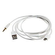 USB to Micro USB and AUX Cable for Samsung Galaxy S3 I9300 and Others
