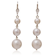 Fabulous Alloy Round Three Pearls Earrings