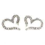 Dame Stangøreringe Hjerte kostume smykker Zirkonium Legering Hjerteformet Smykker Til Daglig