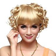 Capless High Quality Synthetic Short Curly Blonde Hair Wigs