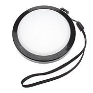 Mennon 72mm Caméra Blanc Couverture Cap Solde objectif avec dragonne (noir et blanc)