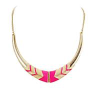 女性 チョーカー ステートメントネックレス 合金 ファッション ステートメントジュエリー ブラック ピンク ジュエリー パーティー 日常 1個
