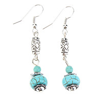 Drop Earrings Dangle Earrings Turquoise Bohemian Gem Turquoise Ball Blue Jewelry For Party Birthday Daily