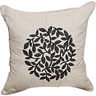 Land Solid Embroidery Linen Dekorative Pillow Cover