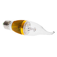 Lâmpada Vela Decorativa E26/E27 4 W 360 LM 3000K K Branco Quente 4 LED de Alta Potência AC 85-265 V CA35