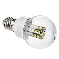 daiwl E27 6W 47x5050smd 500-530lm 6000-6500k naturligt vitt ljus ledde bollen glödlampa (220V)