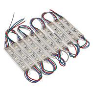 Vandtæt 0.6W 5050SMD RGB Light LED-modul (DC 12V, 10stk)