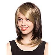 Kort ljusblond peruk av syntetiskt hår, utan huva