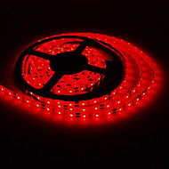5M 20W 300x3528SMD Red Light LED Strip Lamp with AC Adapter (100-240V)