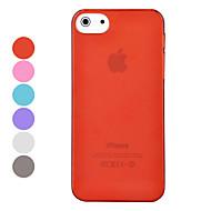 desvio cor pc material de 0,7 milímetros caso difícil ultrafino sólida para iphone 5/5s (cores sortidas)