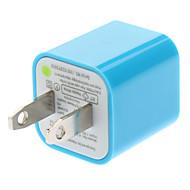 USB Power Charger Adapter for mobiltelefoner (assorterte farger, US Plug, 5V 1A)