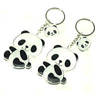1 Paire beau panda Keychain Black & White