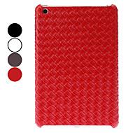 ensfarvet vævet mønster hårdt tilfældet for iPad Mini 3, iPad Mini 2, iPad Mini (assorterede farver)