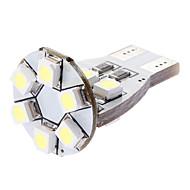 T15 1W 12x3528SMD White Light LED Bulb for Car Turn Signal/Side Marker Lamp (DC 12V)