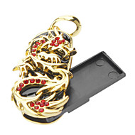 16GB Metal Golden Dragon USB Flash Drive
