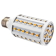E27 10W 60x5050SMD 700-800LM 3000-3500K Warm White Light LED Corn Bulb (12V)