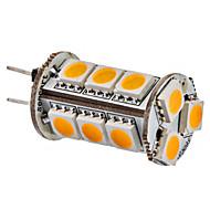 G4 3W 15x5050SMD 150-180LM 3000-3500K Bianco caldo della luce del cereale del LED lampadina (12V)