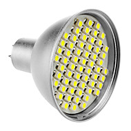 MR16 4W 60x3528SMD 200-240LM 6000-6500K Natural White Light Spot LED Bulb (12V)