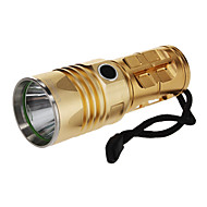 UniqueFire UF-V27 rechargeable 3-Mode du Cree XML-T6 LED Flashlight (1000LM, 3 piles AA, Or)