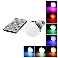 E26/E27 3 W 1 LM RGB / Color-Changing A50 Remote-Controlled Globe Bulbs AC 85-265 V