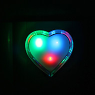 Loving Heart Shaped Fargerike LED Night Light
