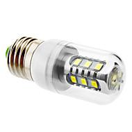 E26/E27 7 W SMD 5630 600 LM Natural White T Corn Bulbs AC 220-240 V
