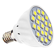 E14 3W 21 SMD 5050 240 LM Natural White MR16 LED Spotlight AC 110-130 / AC 220-240 V