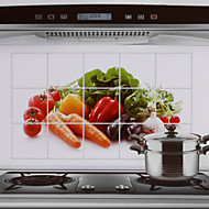 75x45cm groenten patroon olie-proof waterdichte hot-proof keuken muur sticker