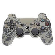 Gray Camouflage Dual-Shock Bluetooth V4.0 Wireless Controller for PS3