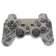 Grå Camouflage Dual-Shock Bluetooth V4.0 trådløs controller til PS3