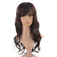 Capless High Quality Synthetic Brownish Black Wavy Hair Wigs