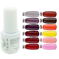 yemannvyou®sequins couleur uv gel ongles vernis no.97-108 (5 ml, couleurs assorties)