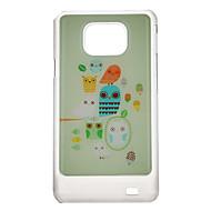 Härlig Owlet Mönster Skyddande hårt Back Case Cover för Samsung Galaxy S2 I9100
