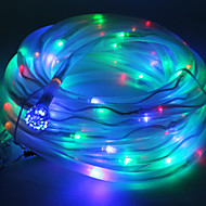 Multicolor Solar Powered Tube Rep 100 LED String Lampa Garden Party Decor