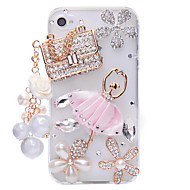 Sachet Ballet Jewelry Covered Back Case for iPhone 4/4S
