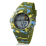 Children's LCD Digital Multi-Functional Camouflage Rubber Band Wrist Watch (Assorted Colors) Cool Watches Unique Watches