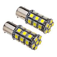 1156 4W 27x5050SMD 330-360LM 6000-6500K Cool White Light LED Bulb for Car (12V)