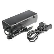 xbox 360e AC-Adapter (US-Stecker) Kabel aus schwarzem Kunststoff 1 Adapter, 1 Kabel