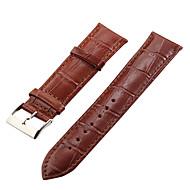 Unisex 22mm Crocodile Grain Leather Watch Band (blandade färger)