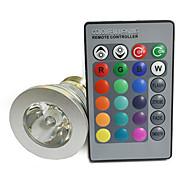 E26/E27 4 W- Con telecomando - RGB 220 lm- AC 85-265