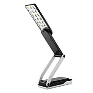 18-LED de luz branca LED luz solar recarregável Fold Eyeshield Reading Tabela Desk Lamp (110-220V)